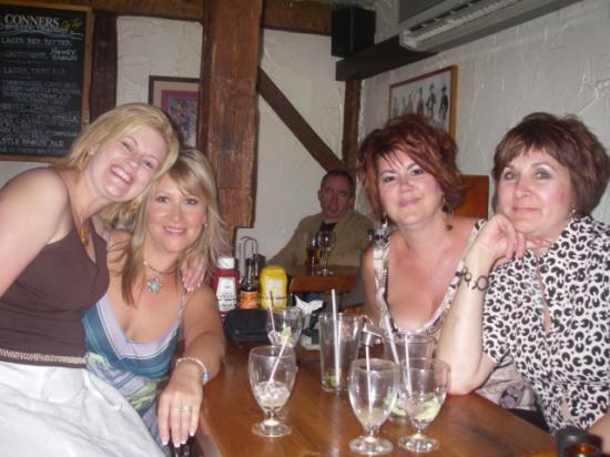 The Olde Angel Inn: The gals celebrating at the Inn