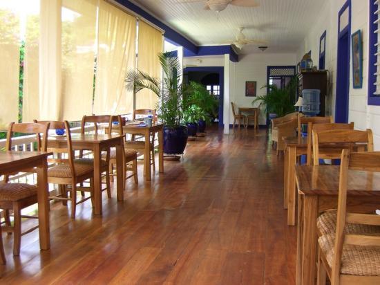 La Posada Azul: Breakfast area