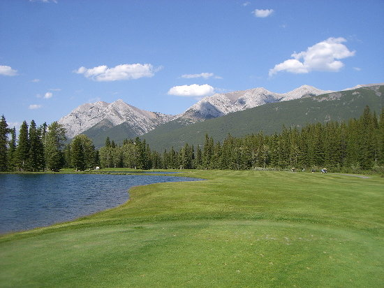 Kananaskis Country Golf Course : First Hole on Mt Lorette