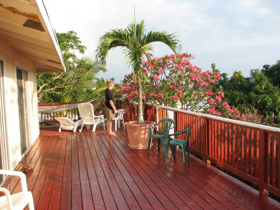 Koa Wood Hale - Patey's Place Hostel: The beautiful terrase