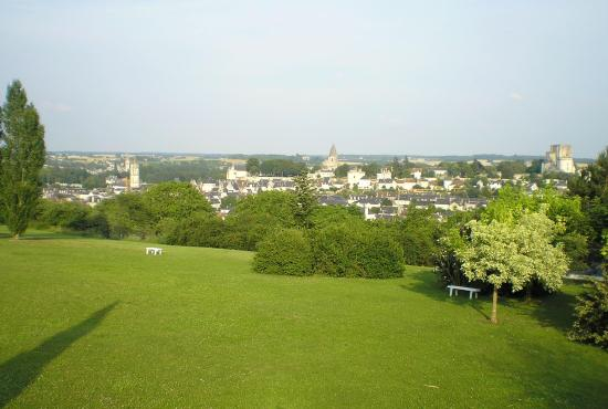 View of Loches from hotel terrace