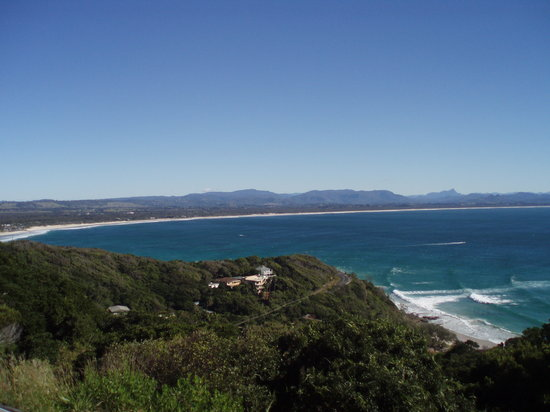 Friday on the Beach: view of Byron Bay from Lighthouse