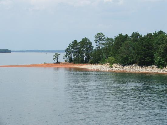 Lake Hartwell State Park: One of the many uninhabitet islands