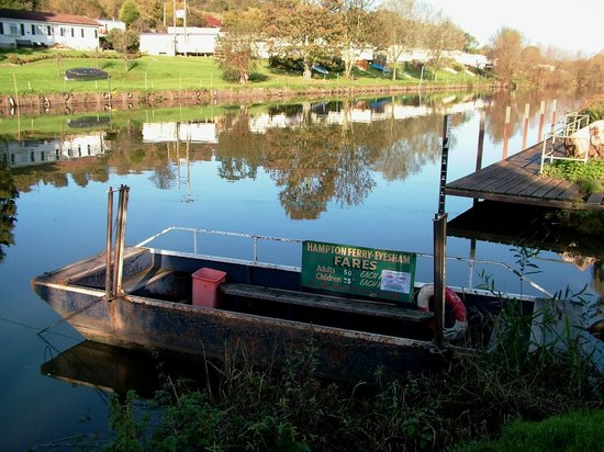 Evesham - November - Rope ferry