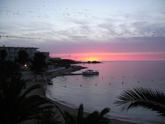 Hotel S'Estanyol: sunset from balcony