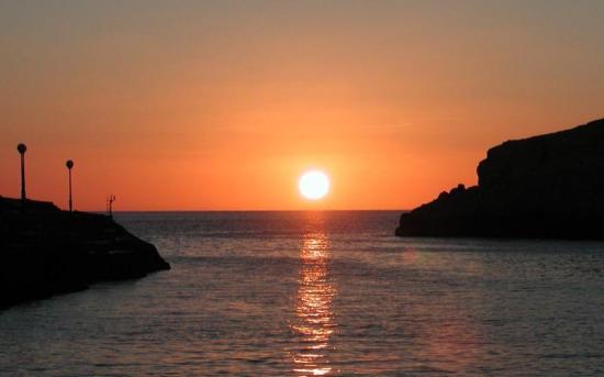 Xlendi, Malta: zafiro sunset view