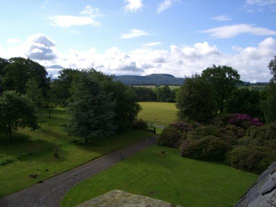 Tulliebole Castle: roof top view