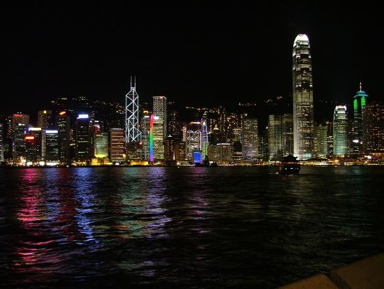 Night view from outside the hotel - Picture of Kowloon