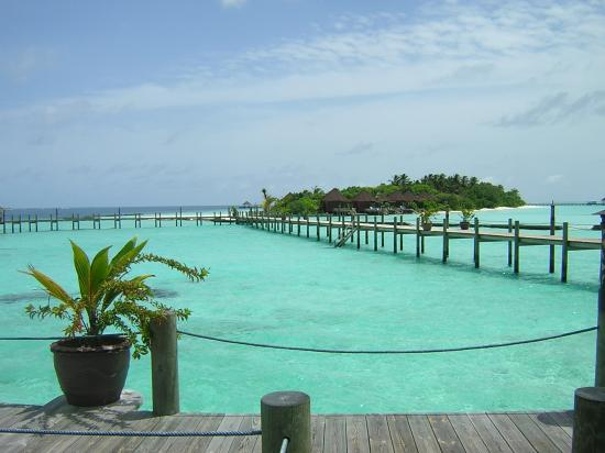 Komandoo Maldives Island Resort: View from front door to island