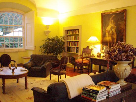 Quinta da Capela: Common lounge area/library