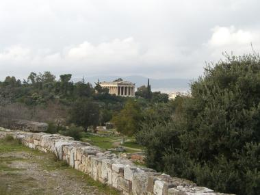 Hephaestus's Temple as seen from inside the Agora. Access it via Adrianou Str. It's a jewel :)