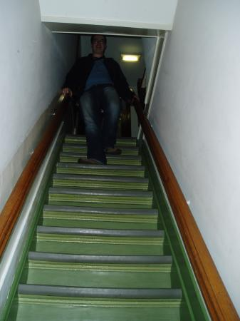 Hotel Adolesce: the steap stairs