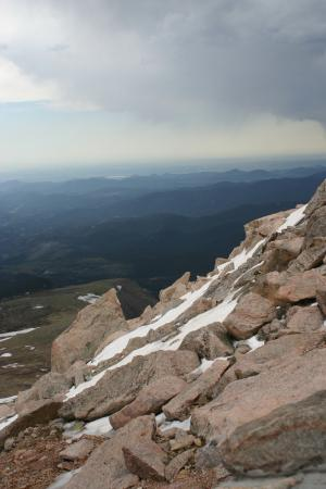 View from atop Mount Evans in June