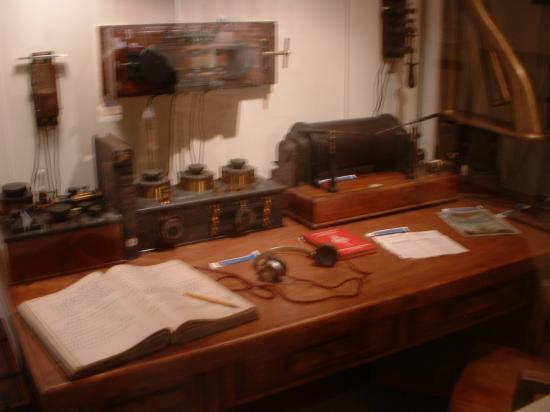 Titanic Museum: The ship's office.