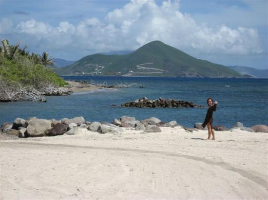 Nisbet Plantation Beach Club: View of St. Kitts from the beach