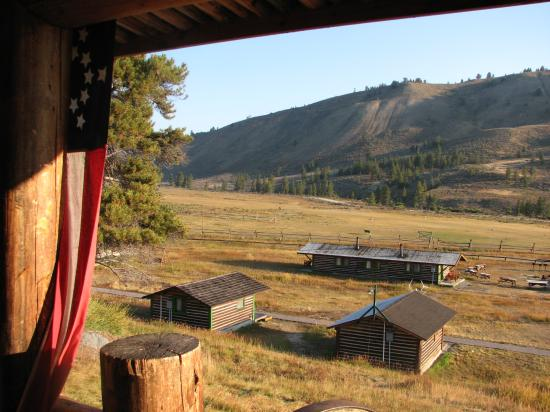 Nine Quarter Circle Ranch: View from the lodge porch