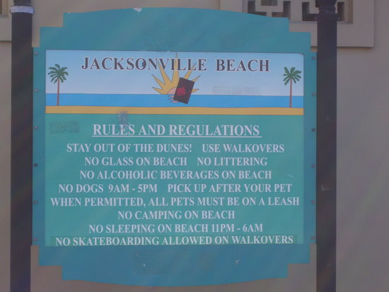 Jacksonville Beach, Floride : Entry to the beach