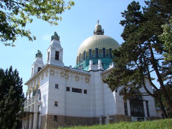 Kirche am Steinhof: Kirche Steinhof on the way up