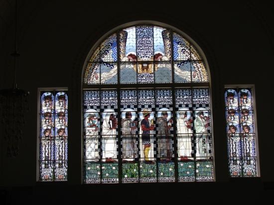 Kirche am Steinhof: Kirche Steinhof - window