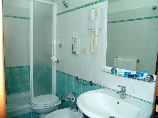 Palacavicchi Hotel: Bathroom photo 2, notice the way the soap was placed on the mirror