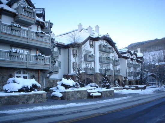 Sonnenalp: Front of hotel in December