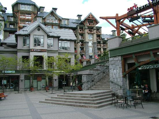 Pan Pacific Whistler Village Centre : Pac Pacific is in the background
