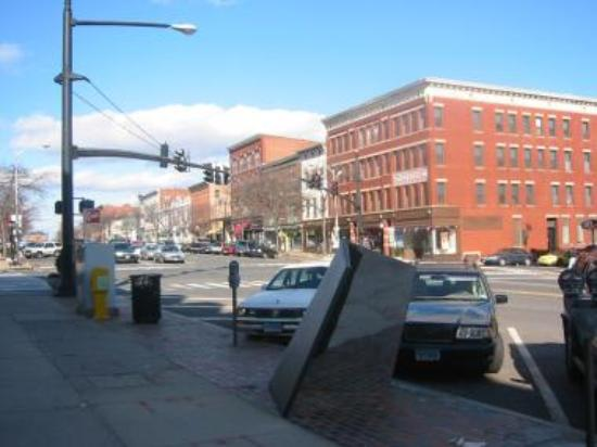 Downtown middletown following i 91 will also bring you into middletown