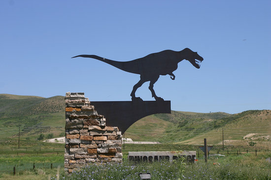 Morrison, Колорадо: Dinosaur Ridge Welcome Sign