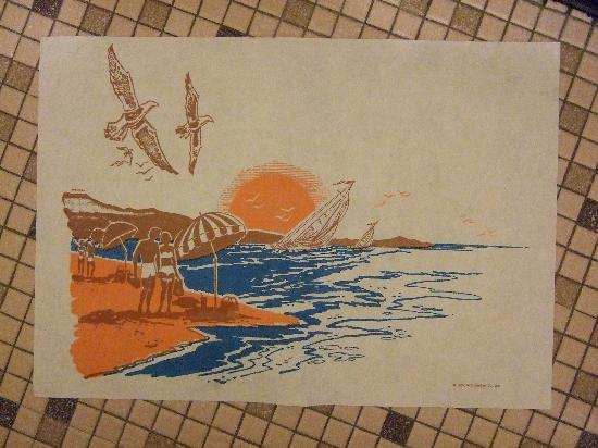North Star Motel: funny paper bathmat