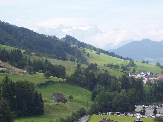 Sattel, สวิตเซอร์แลนด์: view from front of b & b