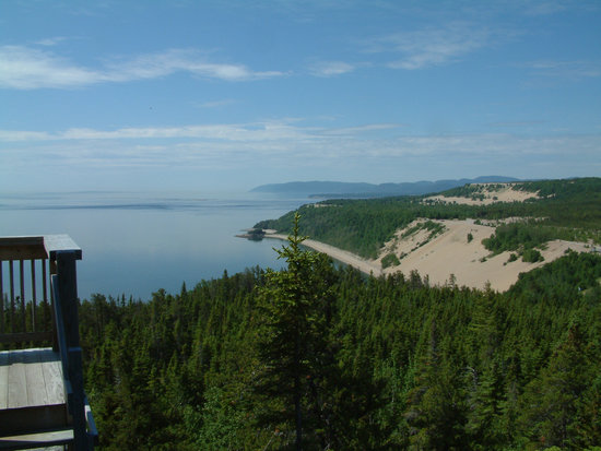 Tadoussac, Canada : Les Dunes from 300 feet up