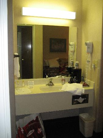 Quality Inn Burlington: Sink and vanity in the room