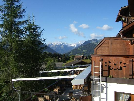 Hotel Alpenrose: view from balcony, gorgeous