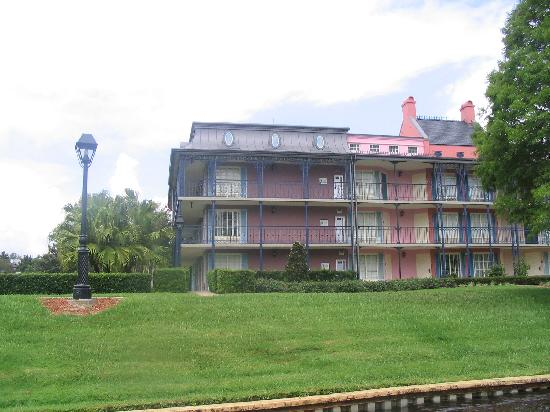 Disney's Port Orleans Resort - French Quarter: View from the boat to Downtown Disney