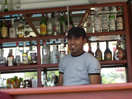 Zevkim Hotel: T Jay the barman