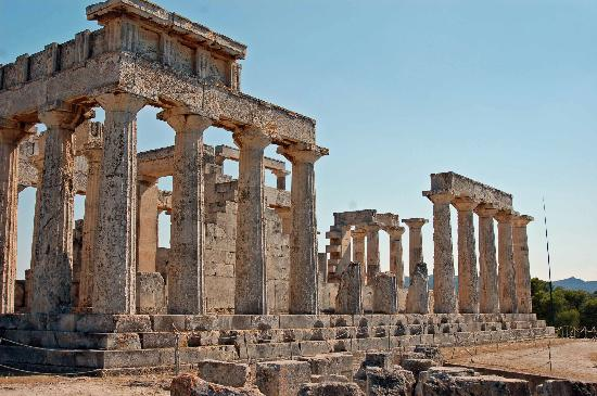 Athenas Temple; Aegina, Greece - Picture of Temple of ...