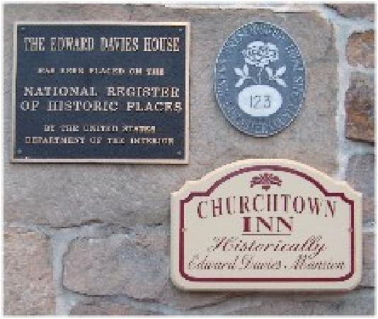 Churchtown Inn Bed and Breakfast: The sign at the Churchtown Inn