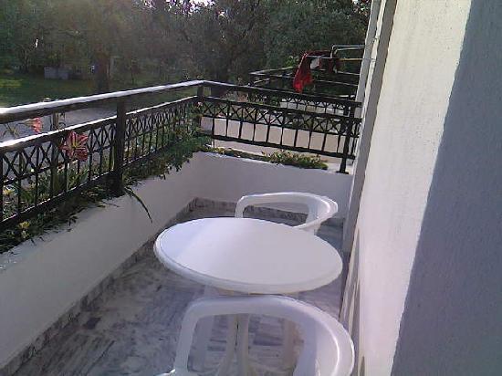 Skala Rachoniou, Greece: Hotel room balcony