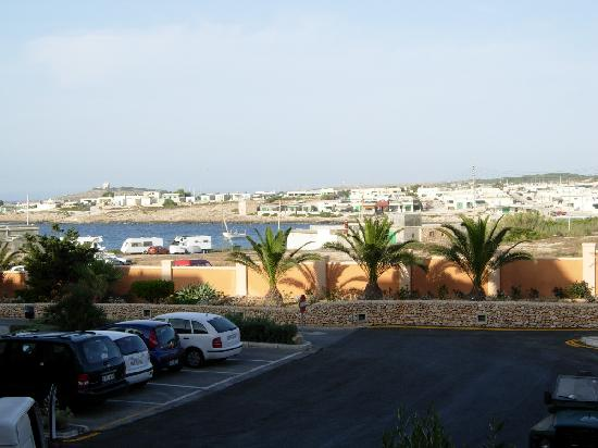 Ramla Bay Resort: View of Armier Bay from a room at front of hotel