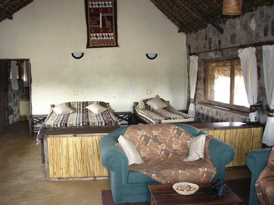 Ruaha River Lodge: Banda room inside