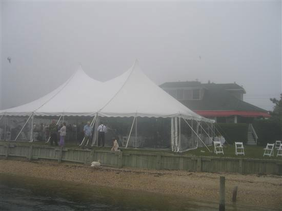The Inn Spot on the Bay: view of the tent from the dock