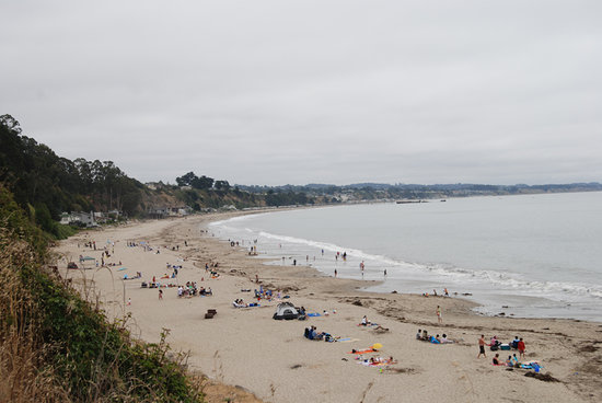 Capitola, CA: Looking West at New Brighton State Beach