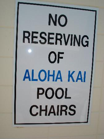 Aloha Kai Vacation Rentals: and more rules...