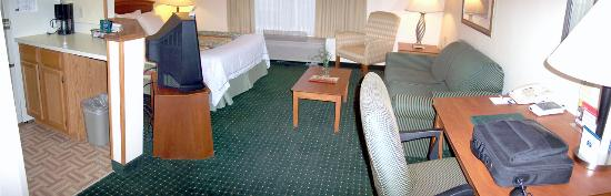 TownePlace Suites Dallas Arlington North : Hotel room I (panoramic) - view you see upon entering the room