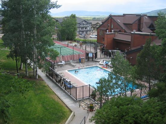 Timber Run Condominiums: view of grounds from balcony