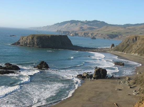 Sonoma County, Καλιφόρνια: Pacific Ocean near Goat Rock