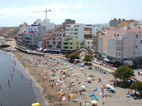 El Medano Hotel: looking down from th top floor