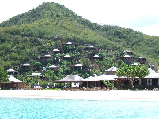 Hermitage Bay: Resort from water taxi