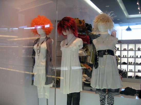 Aberdeen Centre - woman's fashions display