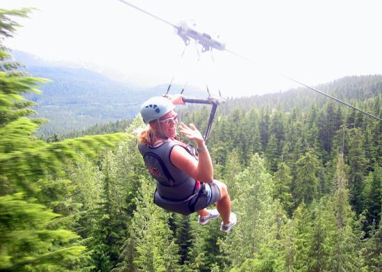 Whistler Mountain Bike Park Zipline At